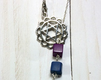 Heart Chakra Necklace, Lariat Necklace, Chakra Jewelry, Yoga Necklace, Meditation Jewelry
