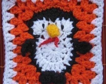 Fairy Penguin Square- rugalugs crochet pattern