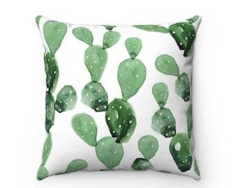 Wild Cactus Print Decorative Throw Pillow (4 Sizes)