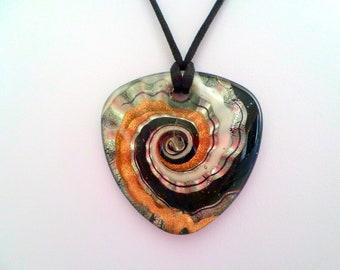 Murano Glass Pendant Necklace, Murano Glass Pendant Choker, Murano Glass Jewelry, Glass Pendant, Multi Color Glass Pendant