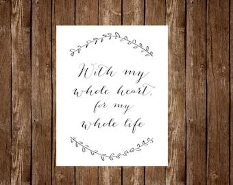 Whole Heart, Whole Life Printable