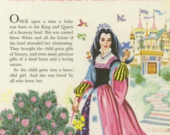 Vintage Children's Image (1987): from Snow White & the Seven Dwarfs. Fairy Tale. NOT A BOOK.