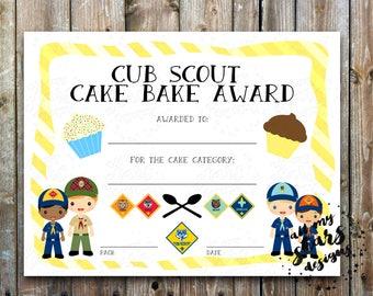 boy scout award certificate templates