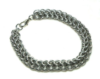 Chainmaille Jewellery, Full Persian Silver Chainmail Bracelet