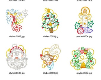 Ornamental-and-Decorative-Christmas-Multiline. ( 10 Machine Embroidery Designs from ATW )