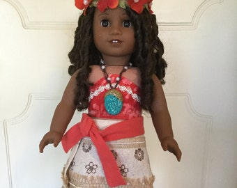 Moana Costume/Outfit #12 for 18 in. Dolls (American Girl, Our Generation, etc.)
