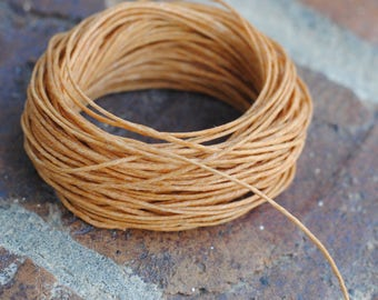Waxed Linen Cord / 10 Yards / Irish Waxed Linen / Butterscotch / 4 Ply / Macrame Cord