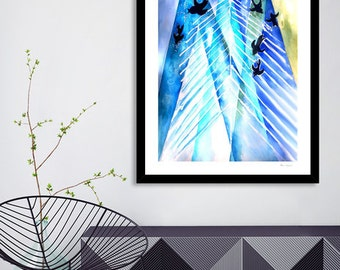 Hygge Art Print, Hygge Wall Print, Hygge Gifts, Gift for New Home, Hygge Decor, Danish decor, Abstract art prints, office wall art