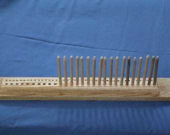 20 inch oak peg loom