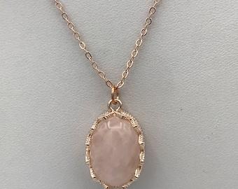 Rose quartz earrings Etsy