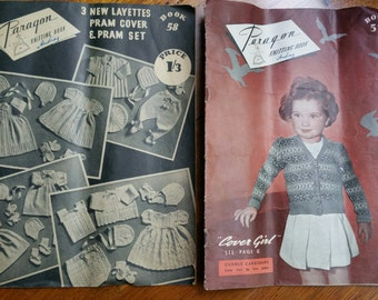 Childrens Vintage Clothing  Knitting Patterns Pram Layette 1950s