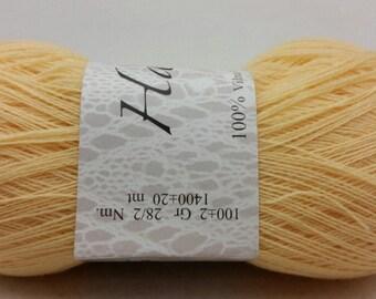 100% Wool Pale Yellow Yarn Haapsalu Shawl Yarn