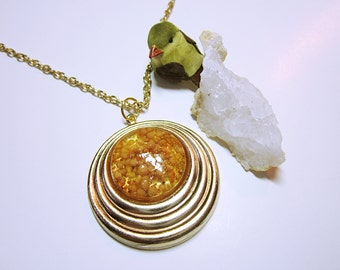PENDANT Seed Pendant Gold Pendant Seed Necklace, Seeds Of Life, Gold Seeds, Seed Jewelry Women's Jewellery NECKLACE JEWELRY