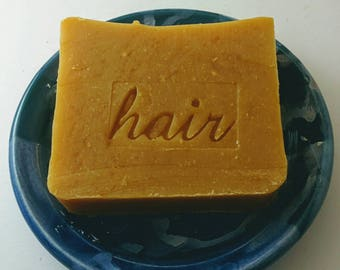 Carrot Shampoo Bar with Lemon and Bay Rum essential oils - Carrot top shampoo bar - palm oil free shampoo - palm free shampoo - vegan