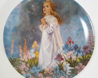 """Vintage Wall Plate """"Twinkle Twinkle Little Star"""" by John McClelland"""