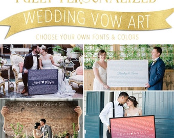 How To Write Your Own Wedding Vows - Wedding Vow Art - Wedding Vows on Canvas - Wedding Gift - Vow Renewal - Anniversary - Wedding Sign