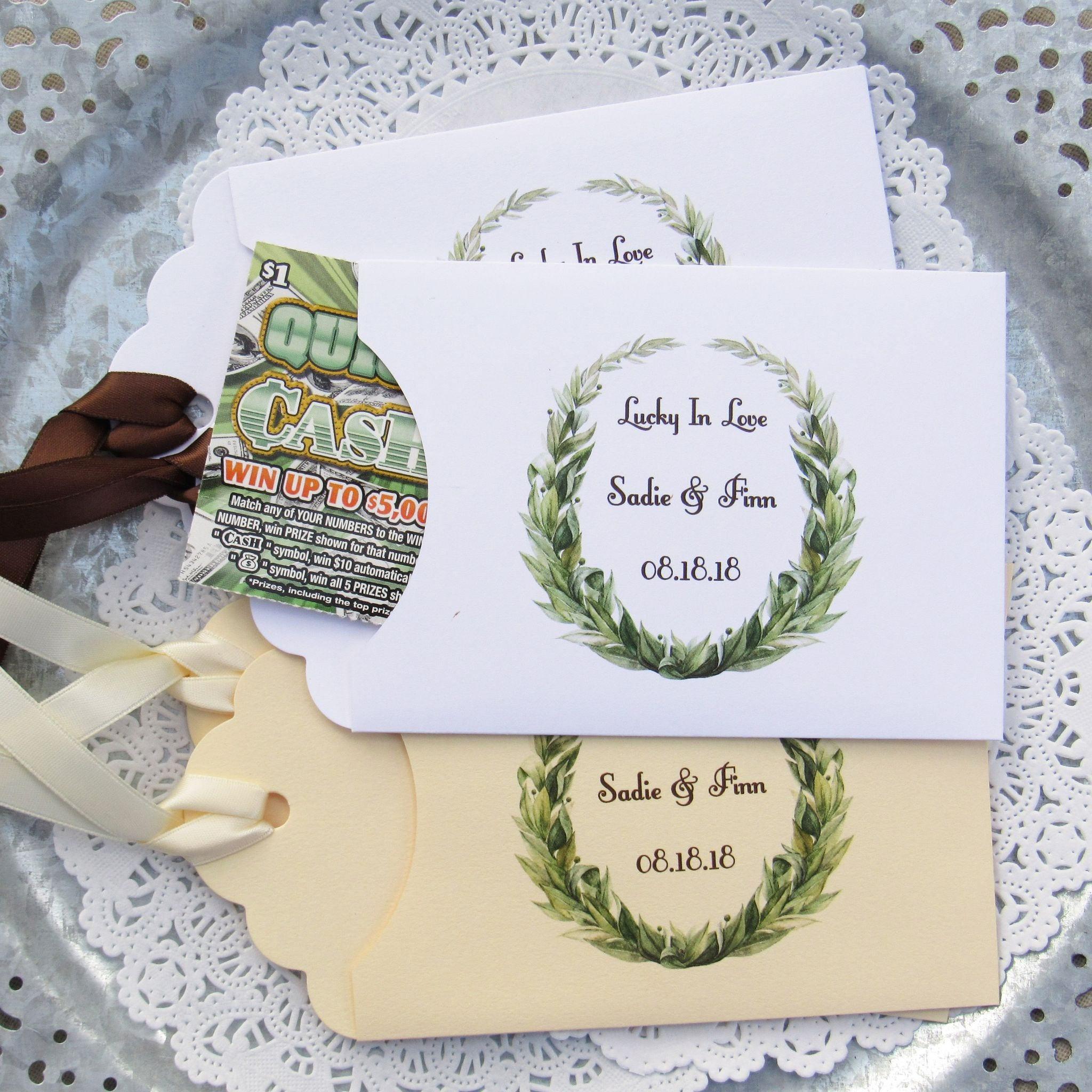 Personalized Wedding Favor Green Wedding Favors Wedding
