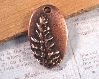 Redwood Charm in Antique Copper Plating from Nunn Design