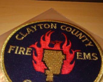 CLAYTON COUNTY Georgia Fire EMS New Patch