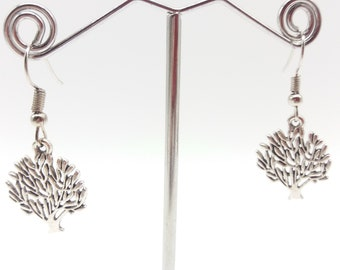Simple Tree Dangle Earrings