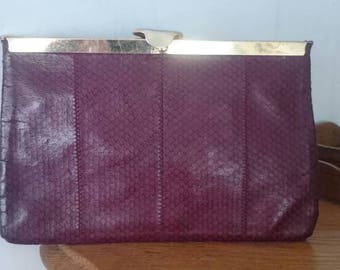 1960s Leather Clutch