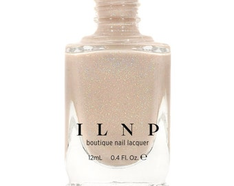 Elle - Almond Nude Holographic Sheer Jelly Nail Polish