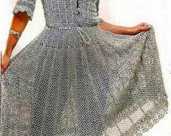 Summer blue dress crochet /  custom