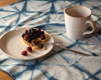Indigo shibori tea towels - set of 2