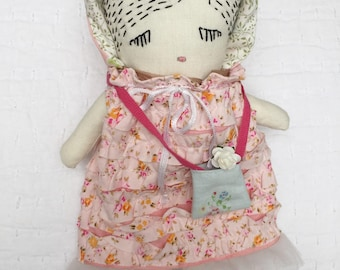 Handmade Ragdoll - Baby Shower - Nursery Decor Girls - Gift for Her - Gift for Girls - Pretty Ragdoll - Gardener Ragdoll