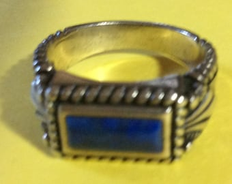 Carolyn Pollack Sterling and Lapis Ring
