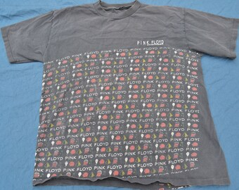 1992 Pink Floyd Shirt Shine On Tour T-Shirt L Embroidered Rock Tee Vintage All Over Print Psych Rock Psychedelic Rolling Stones