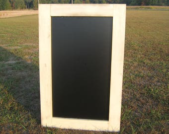 Rustic wedding navajo white chalkboard distressed chalk board black board message center