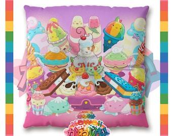 Kawaii Universe - Cute Desserts Group Designer Meditation / Floor Pillow