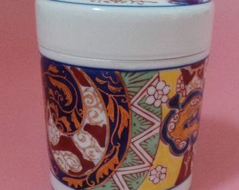 Kutani China Kosem Trinket Box Made In Japan