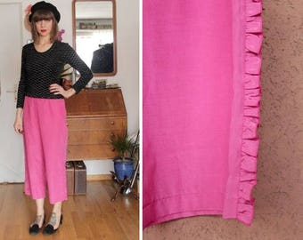 Vintage Tuzzi Pink Ruffled Pants