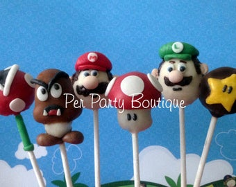 Mario Bros. Cake Pops