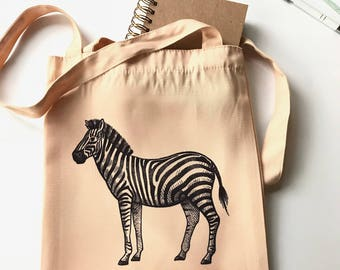 Everyday Zebra Print Canvas Bag