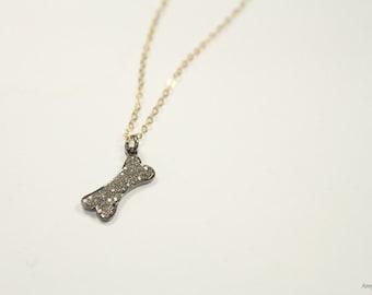 Diamond dog pave diamonds dog necklace dog bone necklace in pave diamond dog bone necklace genuine diamonds bone pendant dog bone jewelry pave diamonds aloadofball Gallery