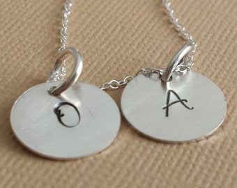 Personalized Initial Necklace / Initial Necklace / Initial Jewelry / Hand Stamped Initial Necklace / Sterling Silver Initial Jewelry
