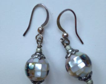 Mother of pearl Mosaic earrings