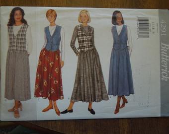 Butterick 4291, sizes 12-16, misses, womens, teens, dress, UNCUT sewing pattern, craft supplies