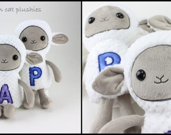Sheep plushie - made to order