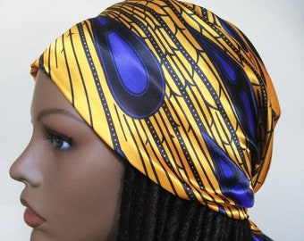 Ankara satin print Head Wrap, Satin African Head Scarf Fabric/ Head wraps/ Adults Head Scarf