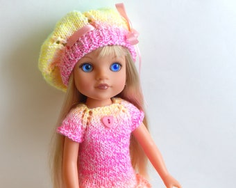 Dress and beret for dolls 14.5 inches Wellie Wisher Heart 4 Heart