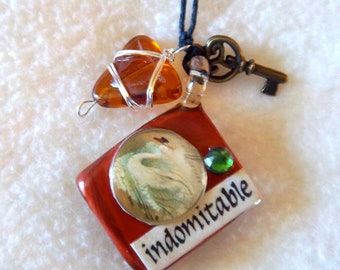 Healing Art Necklace, No.9 - Indomitable / Worth