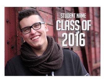Graduation Announcement Card Photoshop Template 004