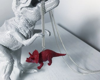 Dinosaur Necklace - Triceratops