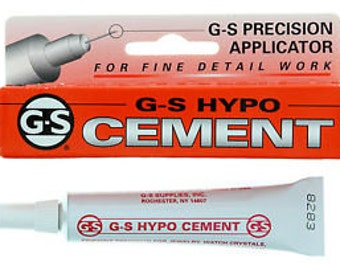 G-S HYPO CEMENT - 1/3 oz - 9 ml - Jewery, knotting, beading and craft glue