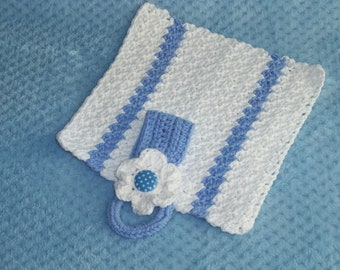 Crocheted Towel Holder and Matching Dish Cloth