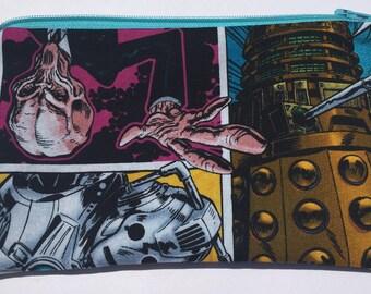 Doctor Who Zipper Pouch: Daleks, The Silence, Cybermen